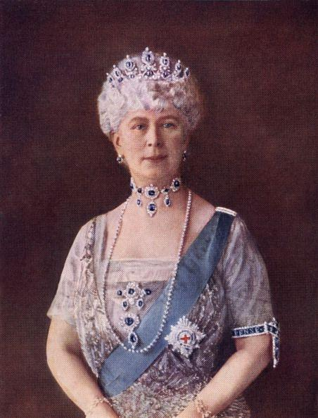 """<p>Queen Mary was famous for her healthy appetite for jewelry. She commissioned what are now the royal family's <a href=""""https://www.townandcountrymag.com/the-scene/weddings/g17805394/royal-wedding-tiaras-throughout-history/"""" rel=""""nofollow noopener"""" target=""""_blank"""" data-ylk=""""slk:most iconic tiaras"""" class=""""link rapid-noclick-resp"""">most iconic tiaras</a>, from the <a href=""""https://www.townandcountrymag.com/society/tradition/a33354075/princess-beatrice-wedding-tiara-queen-mary-fringe/"""" rel=""""nofollow noopener"""" target=""""_blank"""" data-ylk=""""slk:Diamond Fringe"""" class=""""link rapid-noclick-resp"""">Diamond Fringe</a> worn by Queen Elizabeth, Princess Anne, and Princess Beatrice on their wedding days to the <a href=""""https://www.townandcountrymag.com/society/tradition/a10302981/cambridge-love-knot-tiara/"""" rel=""""nofollow noopener"""" target=""""_blank"""" data-ylk=""""slk:Cambridge Lover's Knot"""" class=""""link rapid-noclick-resp"""">Cambridge Lover's Knot</a>, a favorite of Princess Diana and now Kate Middleton. She also loved to shop, especially from the estates of Romanov royals (see: the legendary <a href=""""https://www.townandcountrymag.com/style/jewelry-and-watches/a27633284/queen-elizabeth-vladimir-tiara-romanov-jewels/"""" rel=""""nofollow noopener"""" target=""""_blank"""" data-ylk=""""slk:Vladimir Tiara"""" class=""""link rapid-noclick-resp"""">Vladimir Tiara</a> and many of Empress Marie Feodorovna's sapphire pieces on this list). The parure pictured here, however, came from within the family and was passed down from Queen Mary's grandmother, Princess Augusta, Duchess of Cambridge. Queen Mary made adjustments to the jewels and later gifted the set to her daughter-in-law Princess Marina for her 1934 wedding to George, the Duke of Kent. It then went to their eldest son Edward, who had to sell parts of the set for financial reasons.</p>"""