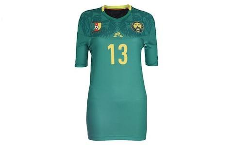 Cameroon home kit, 2019 Women's World Cup - Credit: LE COQ SPORTIF