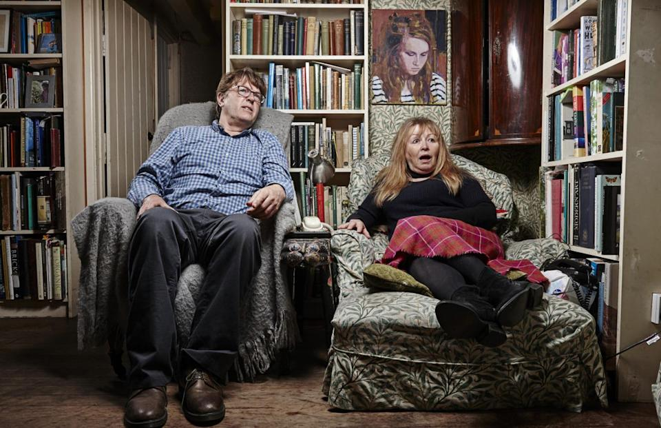 'Gogglebox' stars Giles and Mary. (Channel 4)