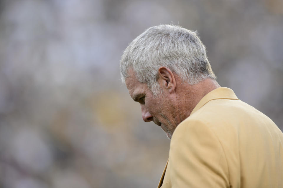 Brett Favre doesn't like the presence of politics in sports, as if it's something that isn't decades-old. (Photo by Hannah Foslien/Getty Images)