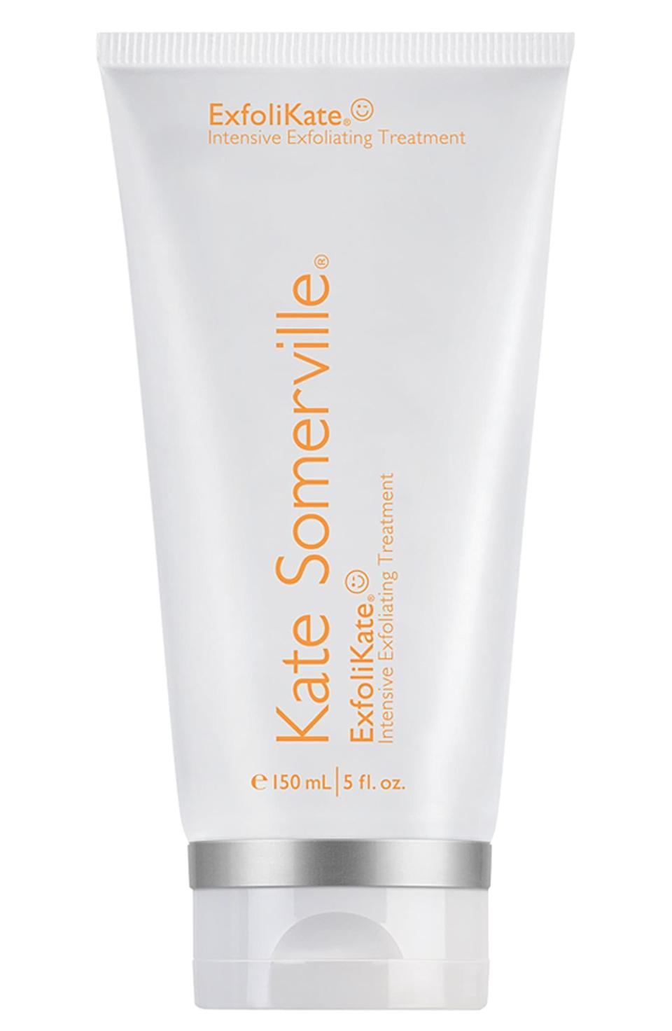 "<p><strong>Kate Somerville</strong></p><p>ulta.com</p><p><strong>$85.00</strong></p><p><a href=""https://go.redirectingat.com?id=74968X1596630&url=https%3A%2F%2Fwww.ulta.com%2Fexfolikate-intensive-exfoliating-treatment%3FproductId%3DxlsImpprod18731199&sref=https%3A%2F%2Fwww.redbookmag.com%2Fbeauty%2Fmakeup-skincare%2Fg33767264%2Fskincare-products-for-men%2F"" rel=""nofollow noopener"" target=""_blank"" data-ylk=""slk:Shop Now"" class=""link rapid-noclick-resp"">Shop Now</a></p><p>Another misunderstood skincare product, exfoliators like this one from Kate Somerville are great for moderating skin texture, pores and wrinkles. Use twice a week, and you'll notice the difference. </p>"