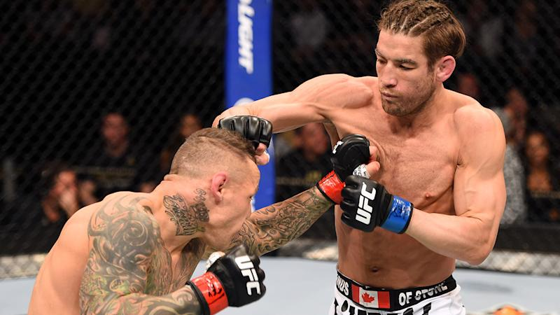 Sam Stout, pictured here in action in the UFC in 2015.