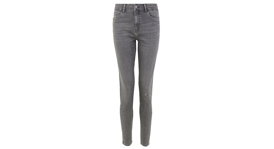 Ivy Button Front Skinny Jeans
