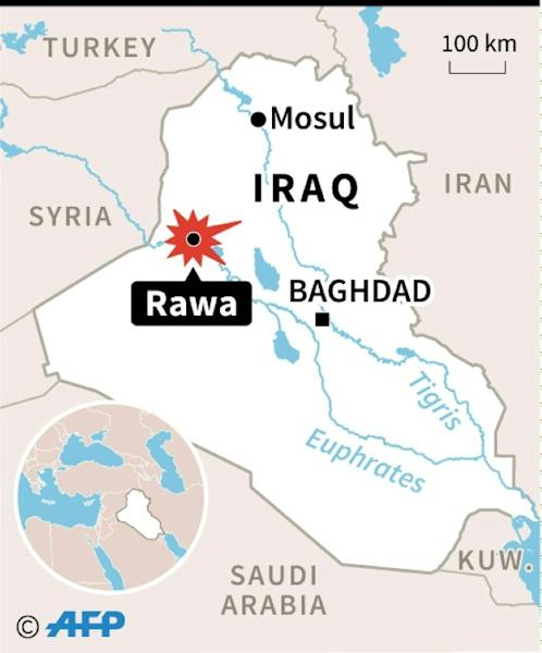 Map of Iraq locating Rawa