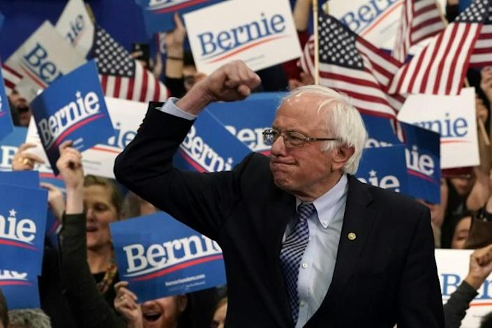 US Senator Bernie Sanders cemented his newly-minted frontrunner status in the Democratic presidential nomination race with a win in New Hampshire (AFP Photo/TIMOTHY A. CLARY)