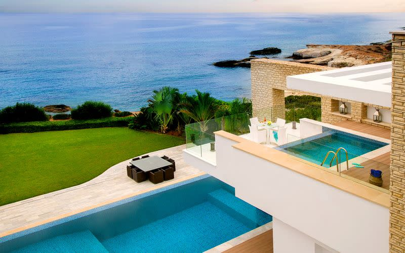 A handout picture shows Cap St. Georges Beach Resort in Paphos