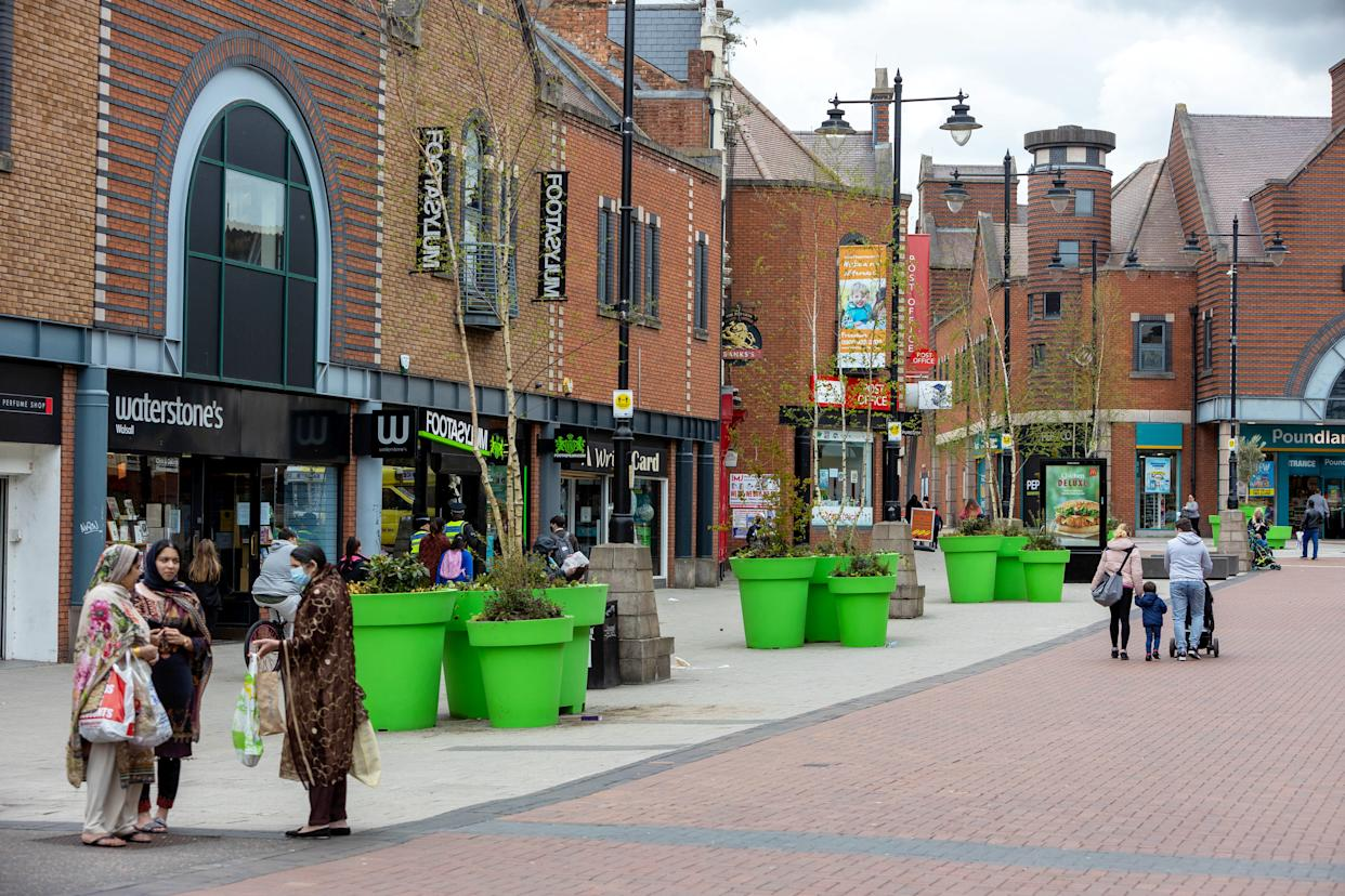 Walsall Council has forked out thousands of pounds on around 15 massive planters in a bid to