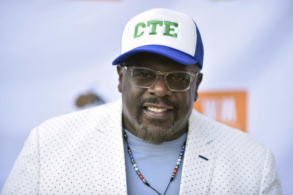 FILE - Cedric the Entertainer arrives at Cedric The Entertainer's 8th Annual Celebrity Golf Classic on Aug. 15, 2021, in Westlake Village, Calif. (Photo by Richard Shotwell/Invision/AP, File)