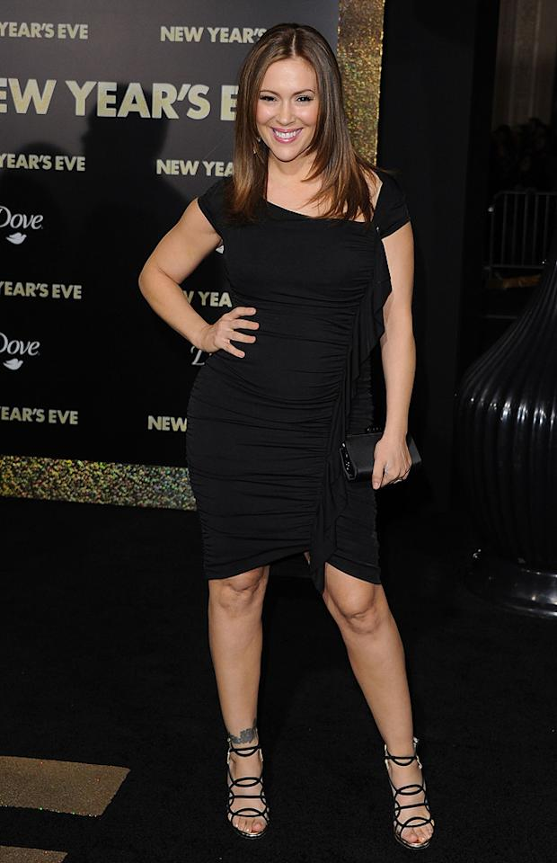 """<a href=""""http://movies.yahoo.com/movie/contributor/1800043966"""">Alyssa Milano</a> at the Los Angeles premiere of <a href=""""http://movies.yahoo.com/movie/1810219047/info"""">New Year's Eve</a> on December 5, 2011."""