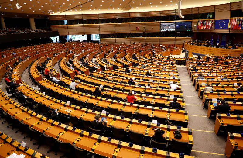 Plenary session of the European Parliament on a new proposal for the EU's joint 2021-27 budget and an accompanying Recovery Instrument to kickstart economic activity in the bloc ravaged by the coronavirus disease (COVID-19) outbreak, in Brussels