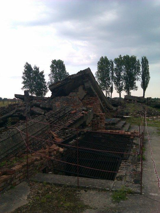 The ruins of the gas chambers at Birkenau.