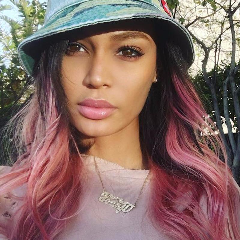 Joan Smalls' Millennial Pink Hair Is What Your Sweet Pastel Dreams Are Made Of