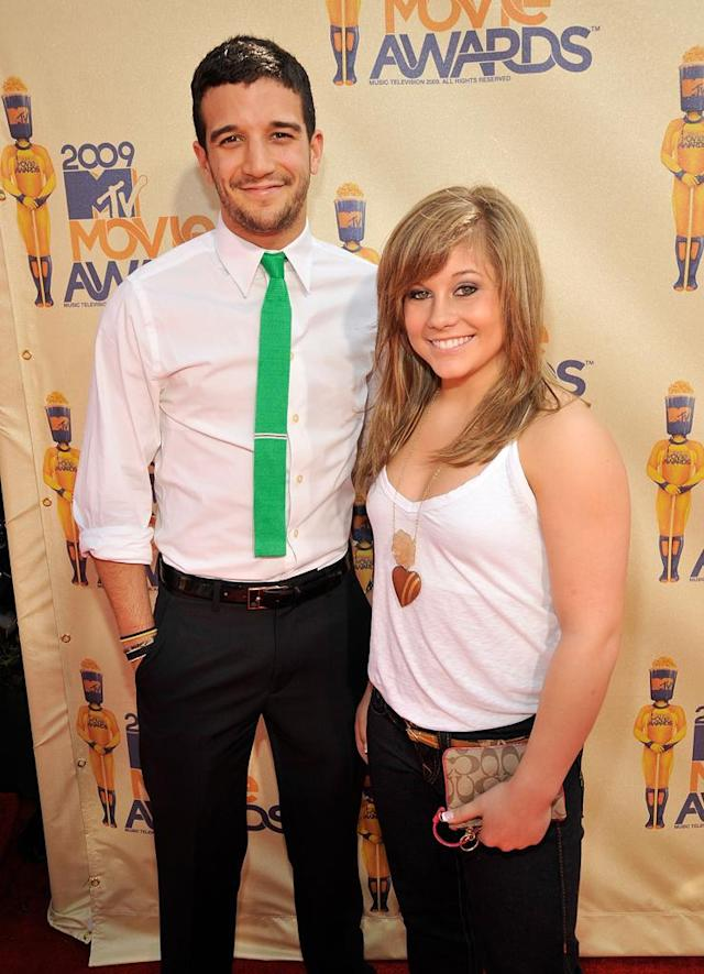 Dancers Mark Ballas and Shawn Johnson arrive at the 2009 MTV Movie Awards held at the Gibson Amphitheatre on May 31, 2009 in Universal City, California.