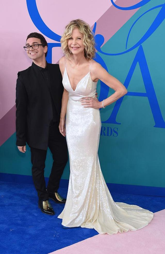 Meg Ryan with Christian Siriano (Photo: Getty Images)