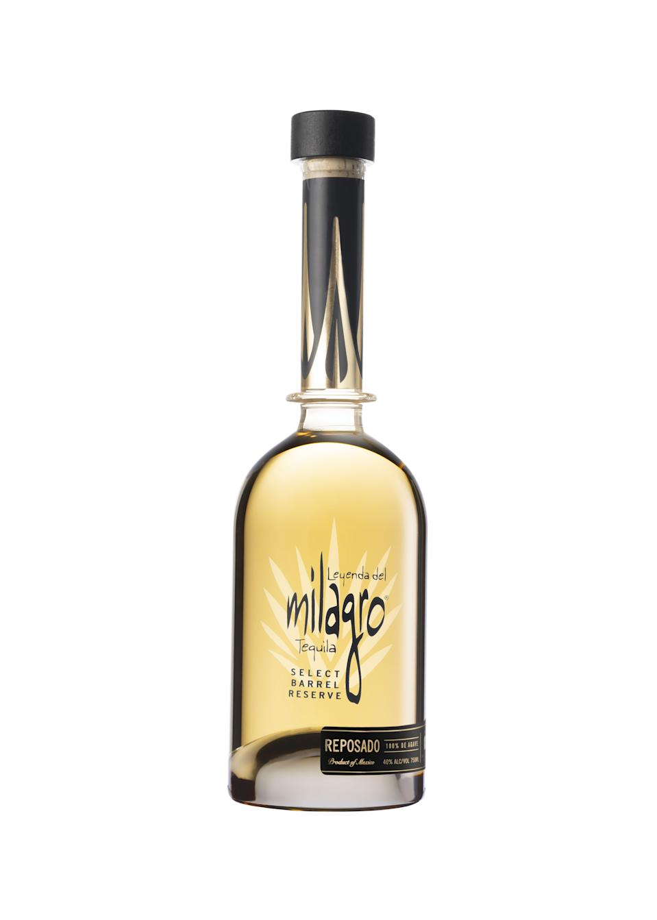 """<p><strong>tequila</strong></p><p>drizly.com</p><p><strong>$55.99</strong></p><p><a href=""""https://go.redirectingat.com?id=74968X1596630&url=https%3A%2F%2Fdrizly.com%2Fmilagro-tequila-barrel-select-reserve-reposado%2Fp5973&sref=https%3A%2F%2Fwww.townandcountrymag.com%2Fleisure%2Fdrinks%2Fg1458%2Fsipping-tequilas%2F"""" rel=""""nofollow noopener"""" target=""""_blank"""" data-ylk=""""slk:Shop Now"""" class=""""link rapid-noclick-resp"""">Shop Now</a></p><p>Milagro's Select Barrel Reserve Reposado is distilled twice (first in a pot still, then in a column still) and rested for three to six months in American and French oak barrels.</p>"""