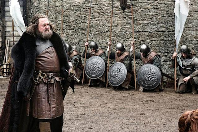 Mark Addy as Robert Baratheon. (Photo: HBO)