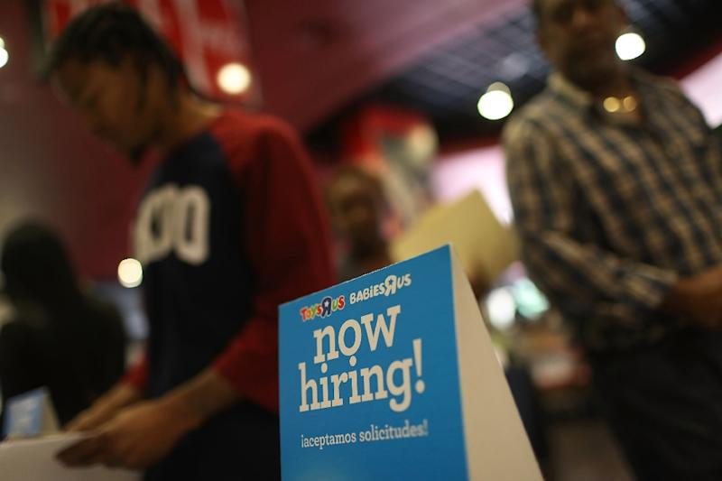 After months of pumping out new jobs at a steady clip, the US added only 98,000 net new positions, the Labor Department reported -- a figure far below analyst expectations (AFP Photo/JOE RAEDLE)