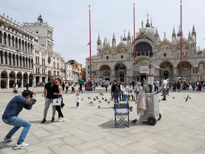 <p>Tourists return to Venice, Italy, after easing of Covid restrictions</p> (REUTERS)