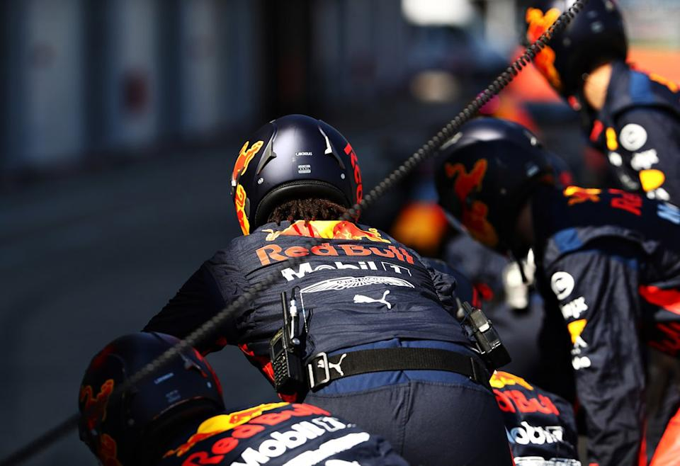 "Red Bull Racing practica pitstops<span class=""copyright"">Red Bull Content Pool</span>"