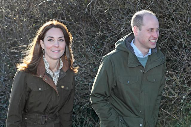William joked 'fancy meeting you up here' to waiting media. (Press Association)