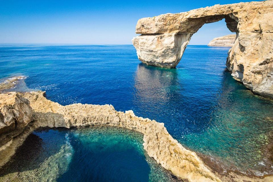 "<p>""Gozo is a tranquil island known for its rugged landscape and spectacular coastline, often referred to as Malta's sister island"", <a href=""https://urldefense.proofpoint.com/v2/url?u=https-3A__www.airfair.com_&d=DwMFAg&c=B73tqXN8Ec0ocRmZHMCntw&r=i9Cwto95XKUf7DVX18LFheTXN7rxCaOM7nPS4-2l3ZM&m=z18XVcDUYTDCqlIom8ojpP2DTc4GGTD-Lq6EkdNKQdY&s=qQVy-fps0SzhNrXzJNipAiVTjtJ3CApxmXc7_LEZwn0&e="" rel=""nofollow noopener"" target=""_blank"" data-ylk=""slk:airFair"" class=""link rapid-noclick-resp"">airFair</a> say, noting that flights will be cheaper than further afield. ""Couples can begin married life by exploring ancient ruins, cycling, discovering tucked away beaches and harbours, and tucking into local cuisine at traditional cafes and restaurants.""</p>"