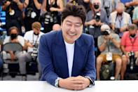 <p>South Korean actor Song Kang-ho poses during a photocall for the film <em>Bi-Sang-Seon-Eon (Emergency Declaration)</em> at the 74th annual Cannes Film Festival in France on July 16.</p>