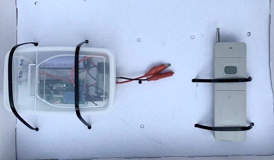 Police seized a transmitter and a receiver. Photo: Handout