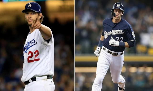 Clayton Kershaw of the Dodgers and Christian Yelich of the Brewers hope to lead their teams to the elusive World Series.