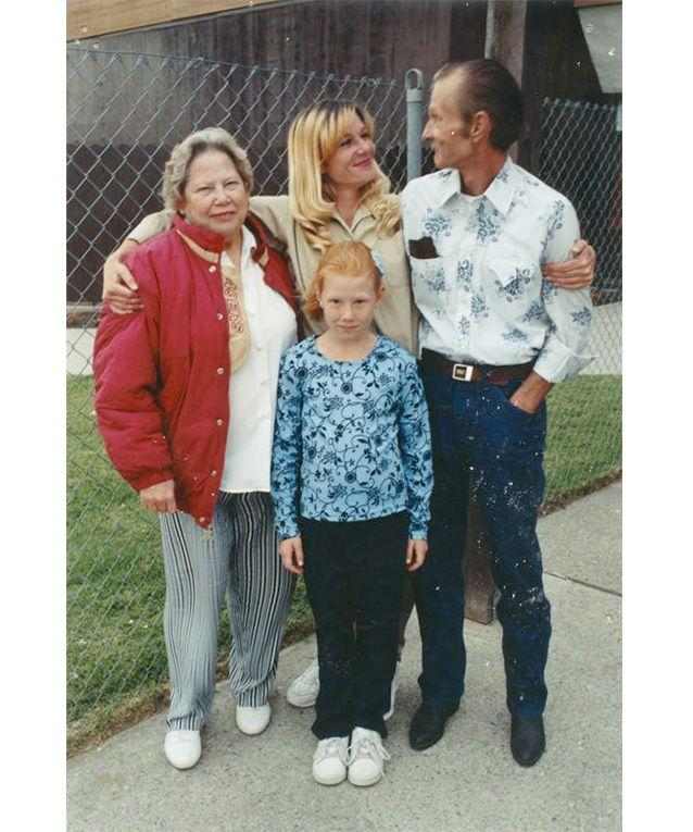 Barbara Scrivner with her step-mother, father and daughter Alannah on a jailhouse visit. Photo: Barbara Scrivner.