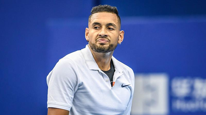 A shoulder injury will see Nick Kyrgios take a break from tennis.