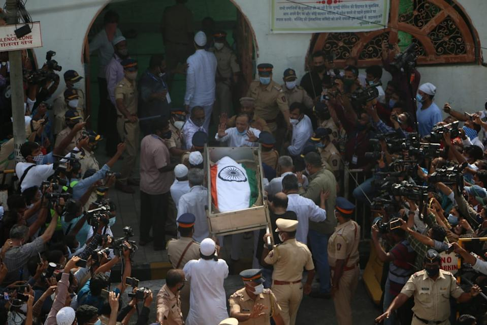 Dilip Kumar's funeral: Actor receives full state honour