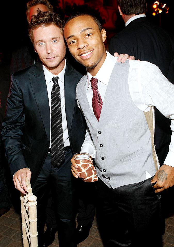 "A dapper Kevin Connolly (Eric) and Bow Wow caught up at the after party. The rapper portrays one of E's clients on the show. Michael Buckner/<a href=""http://www.gettyimages.com/"" target=""new"">GettyImages.com</a> - July 9, 2009"