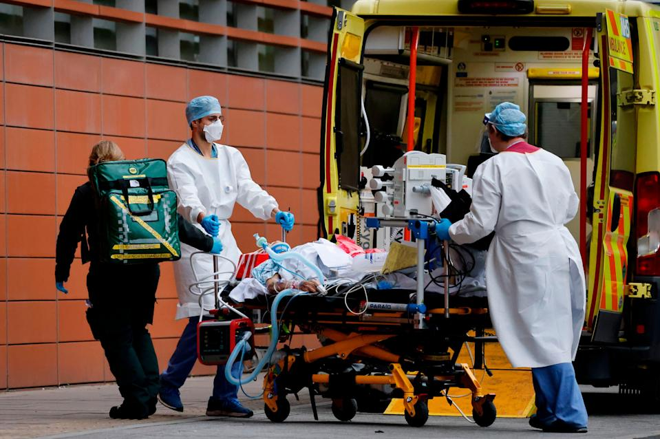 <p>Hospitalisations and deaths have surged across the UK over the past month</p> (AFP via Getty Images)