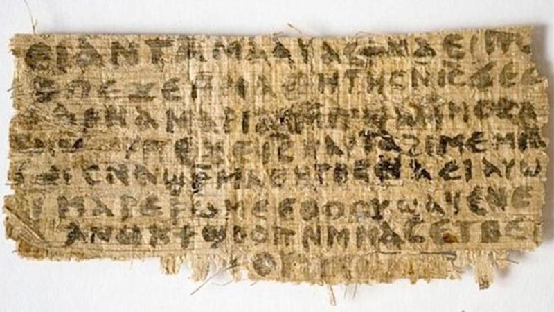 Written in Coptic (an Egyptian language), the Gospel of Jesus's Wife, if authentic, suggests that some people in ancient times believed Jesus was married, apparently to Mary Magdalene. Photo: LiveScience