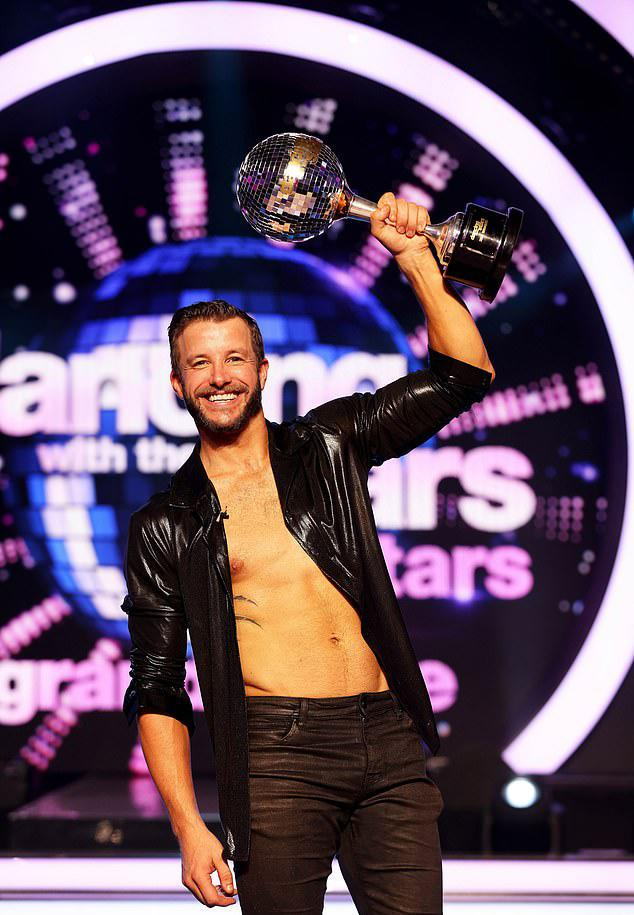 Luke Jacobz and dance partner Jorja Rae Freeman managing to score a perfect 40 to win the competition. Photo: Seven