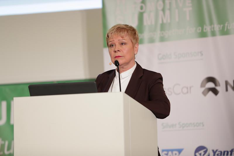 Citroen CEO Linda Jackson speaks at Women Automotive Summit, Stuttgart, June 13, 2019. Credit: Worldwide Partnerships