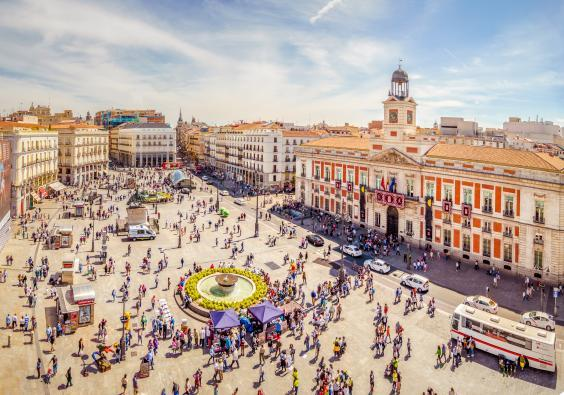 Puerta del Sol square in Madrid, a great start for navigating the city (Getty/iStockphoto)