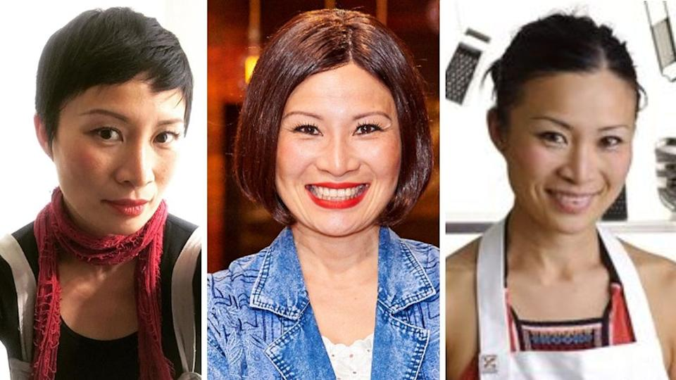 MasterChef star Poh Ling Yeow in 2019 (L and C) and in 2009 (R). Photo: Instagram/pohlingyeow and Channel Ten