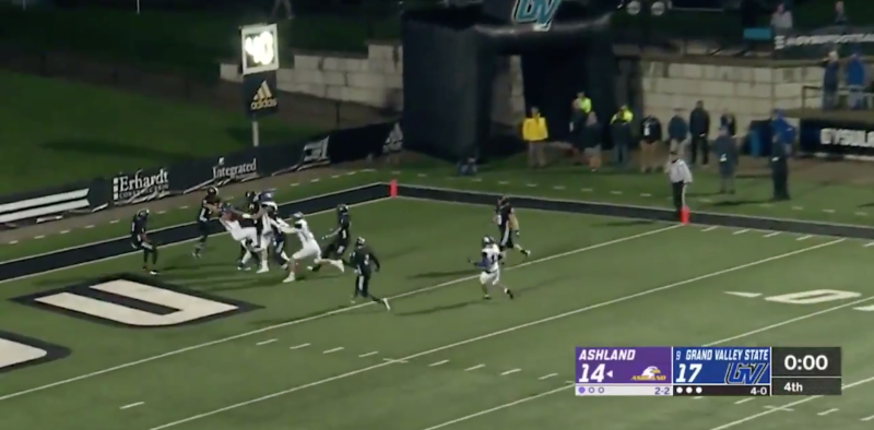 Ashland scored on this play to beat Grand Valley State. (via ESPN)