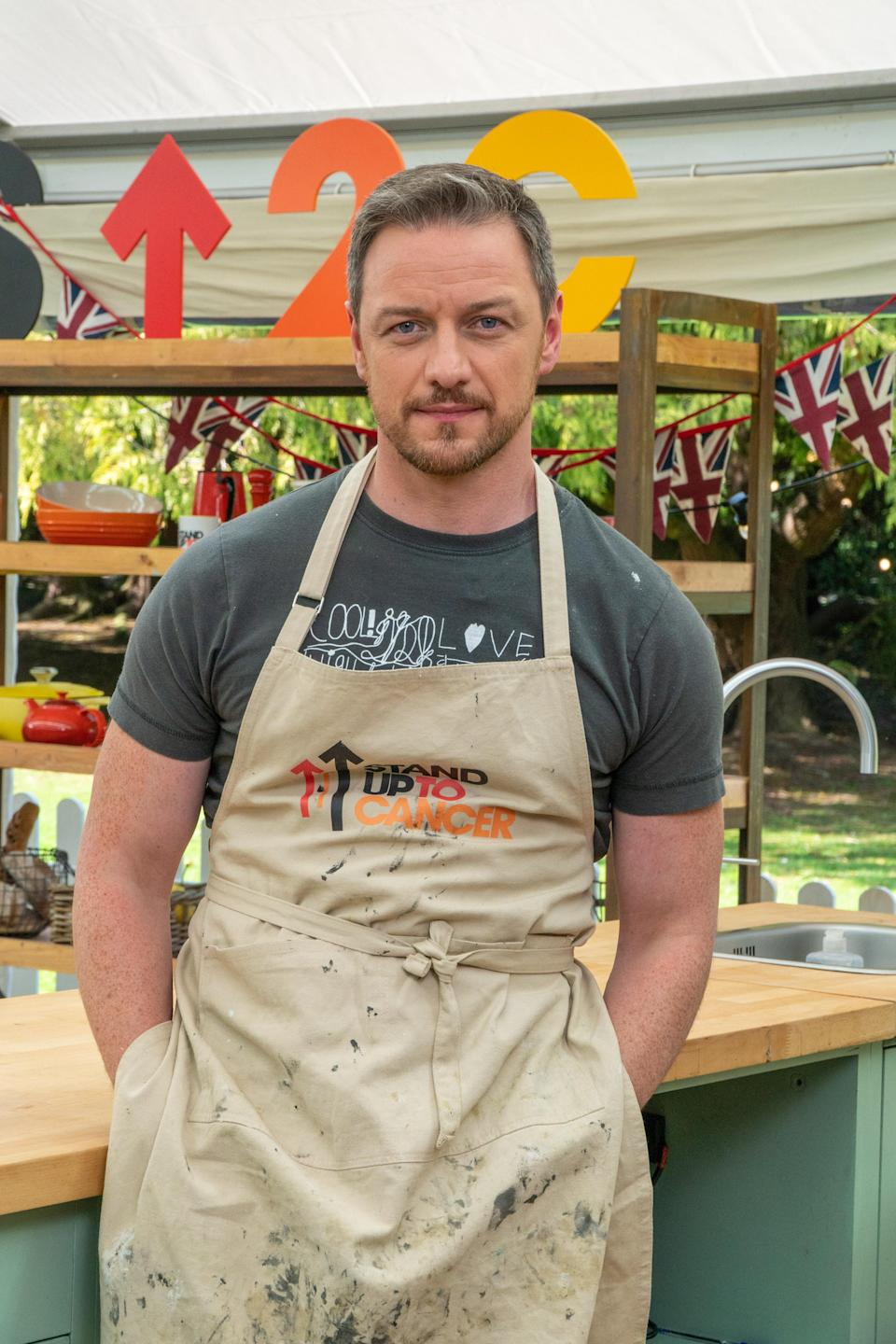 Actor James McAvoy will be trying to impress with his baking skills (Channel 4/Love Productions)