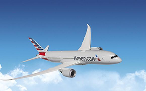 American Airlines airplane in flight