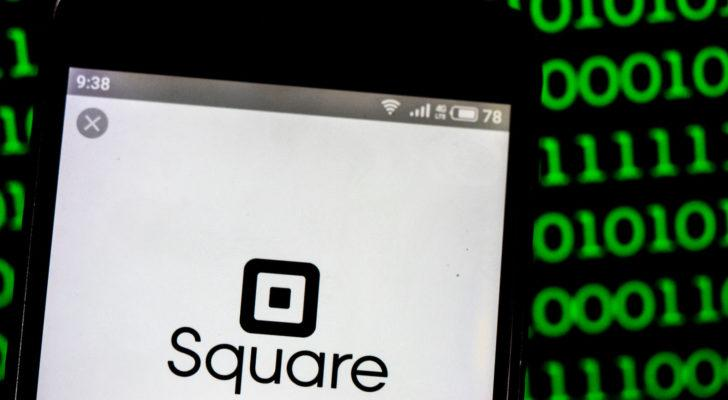 Square, Inc. logo seen displayed on smart phone. Square, Inc. is a financial services, merchant services aggregator, and mobile payment company (growth stocks to buy)