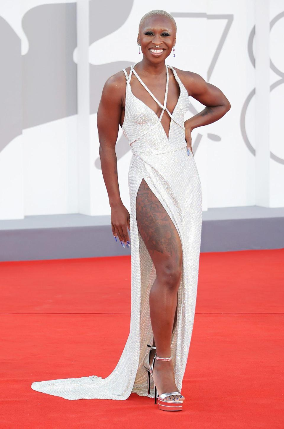 <p>Cynthia Erivo stuns on the 78th Venice Film Festival red carpet on Sept. 1 in Italy. </p>