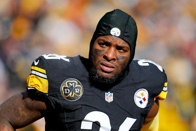 Le'Veon Bell said that his year-long holdout wasn't the original plan. (Photo by Kevin C. Cox/Getty Images)