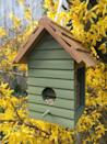 """<p>If you're looking for garden ideas for wildlife, you could install a bird feeder, bird bath or bird house. More birds attracted to your outdoor space will also mean more chances of listening to the sound of birds singing, which is great for your wellbeing. In fact, <a href=""""https://www.housebeautiful.com/uk/garden/a27452863/kate-humble-sounds-of-spring-campaign/"""" rel=""""nofollow noopener"""" target=""""_blank"""" data-ylk=""""slk:research shows that listening to the sound of birds"""" class=""""link rapid-noclick-resp"""">research shows that listening to the sound of birds</a> can help lower stress and fatigue, as well as helping to combat anxiety.</p><p>You could buy one (shop a selection at the <a href=""""https://go.redirectingat.com?id=127X1599956&url=https%3A%2F%2Fshopping.rspb.org.uk%2Fbird-feeders%2F&sref=https%3A%2F%2Fwww.redonline.co.uk%2Finteriors%2Feditors_choice%2Fg35933369%2Fgarden-ideas-on-a-budget%2F"""" rel=""""nofollow noopener"""" target=""""_blank"""" data-ylk=""""slk:RSPB"""" class=""""link rapid-noclick-resp"""">RSPB</a>) or, if you're looking for a cheaper way, wash out old tin cans (from soup and baked beans), then paint, fill with bird seed, and hang in the garden for your own homemade bird feeder.</p><p><strong>Pictured: </strong>Bird feeder in Moorland Green Wood Paint, <a href=""""https://thorndown.co.uk/product/moorland-green-wood-paint/"""" rel=""""nofollow noopener"""" target=""""_blank"""" data-ylk=""""slk:Thorndown Paints"""" class=""""link rapid-noclick-resp"""">Thorndown Paints</a></p>"""