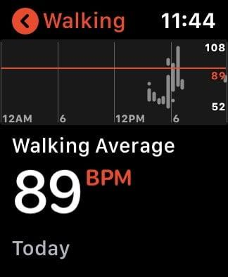 Apple Watch heart rate