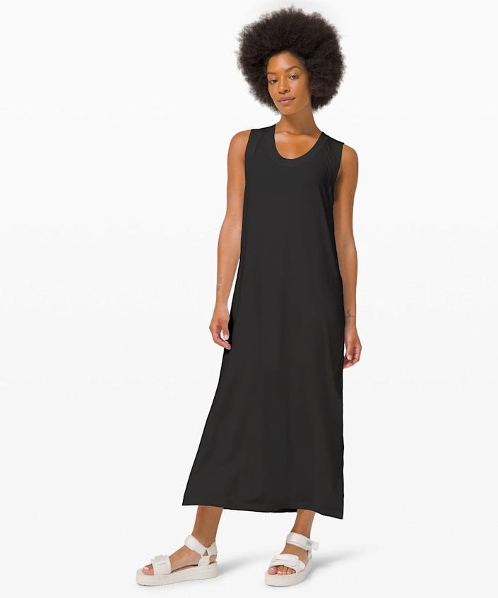 """<h2>Lululemon All Yours Tank Maxi Dress</h2><br><strong><em>The Superwoman</em></strong><br><br>With a floaty, a-line silhouette and a pima cotton and lyocell fabrication, this unassuming tank dresses appears to give wearers style superpowers — even in the most challenging fashion-challenged situations. <br><br><strong>The Hype:</strong> 4.4 out of 5 stars; 34 reviews on Lululemon.com<br><br><strong>What They're Saying: </strong>""""After 10+ washes and accidentally including in the dryer multiple times, dress has yet to pill or change shape. Can dress up or throw over swimsuit and with a toddler in tow, I feel polished in this dress and even with little hands wiping hands on me, easily able to brush away crumbs. I am broad and am between size 4 and 6 in Lululemon. While 4 fit snug, I sized up to a 6 as it laid flat on back and did not pull across the shoulders."""" — Anonymous, Lululemon.com reviewer<br><br><em>Shop <strong><a href=""""http://lululemon.com"""" rel=""""nofollow noopener"""" target=""""_blank"""" data-ylk=""""slk:Lululemon"""" class=""""link rapid-noclick-resp"""">Lululemon</a></strong></em><br><br><strong>Lululemon</strong> All Yours Tank Maxi Dress, $, available at <a href=""""https://go.skimresources.com/?id=30283X879131&url=https%3A%2F%2Fshop.lululemon.com%2Fp%2Fskirts-and-dresses-dresses%2FAll-Yours-Tank-Maxi-Dress%2F_%2Fprod10010011%3Fcolor%3D0001"""" rel=""""nofollow noopener"""" target=""""_blank"""" data-ylk=""""slk:Lululemon"""" class=""""link rapid-noclick-resp"""">Lululemon</a>"""
