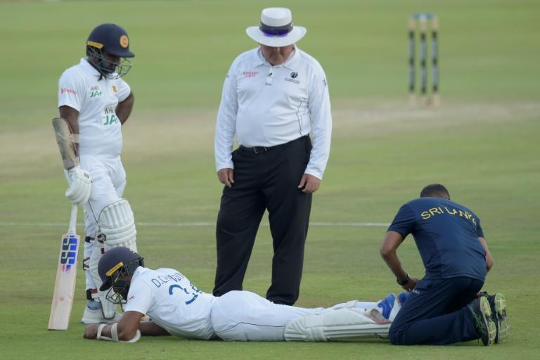 Dinesh Chandimal was among a number of Sri Lanka players to sustain an injury