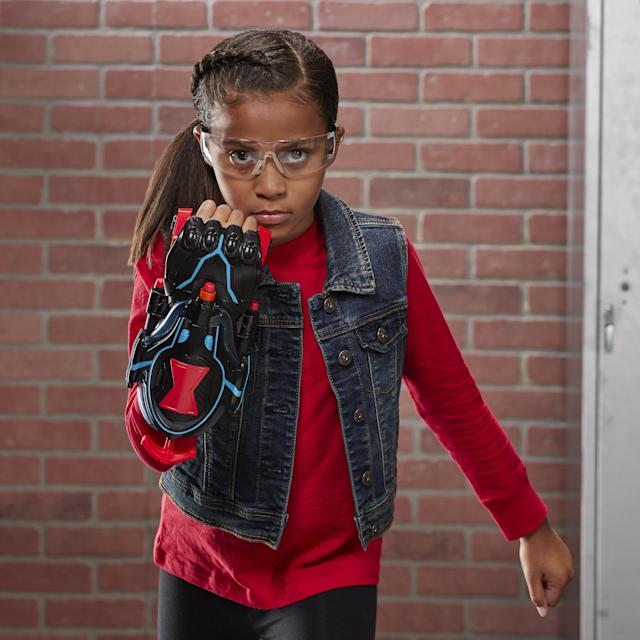 Your aim will be true with the NERF Power Moves Marvel <em>Black Widow</em> Stinger Strike NERF Dart-Launching Roleplay Toy. (Photo: Nerf)
