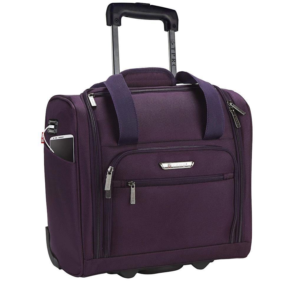 """<h2>TPRC Smart Under-Seat Carry-On with USB Charging Port</h2><br><strong>The Type: </strong>Under-seat carry-on<br><br><strong>The Hype:</strong> 4.7 out of 5 stars and 936 reviews on Amazon<br><br><strong>What Travelers Say: </strong>""""Now I use this for work because I'm a security guard and I drive to a different location every day. So, you can imagine I bring a bunch of puzzle books with me to prevent boredom and I carry two things of Lysol disinfectant for the desk I sit at, and then all the little stuff like feminine items, eye drops, hand lotion, etc. This bag is very convenient for my needs. It actually holds more than my backpack did, for a worth-it price too. Plenty of compartments, it's not that heavy even with your stuff in it and won't break your back toting it. And also, it appears to be good quality too, the zipper isn't cheaply made, etc."""" – <em>Kayla, Amazon Reviewer</em><br><br><em>Shop</em> <strong><em><a href=""""https://amzn.to/3uVtzpP"""" rel=""""nofollow noopener"""" target=""""_blank"""" data-ylk=""""slk:TPRC"""" class=""""link rapid-noclick-resp"""">TPRC</a></em></strong><br><br><strong>TPRC</strong> Smart Under Seat Carry-On with USB Charging Port, $, available at <a href=""""https://amzn.to/33NdaYF"""" rel=""""nofollow noopener"""" target=""""_blank"""" data-ylk=""""slk:Amazon"""" class=""""link rapid-noclick-resp"""">Amazon</a>"""